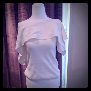 Club Monaco off shoulder white blouse